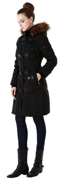 Faux Fur Quilted Down Coat from BGSD