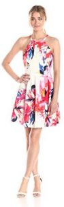 Women's Spaghetti Fit-and-Flare Printed Dress