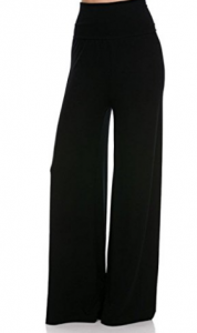 2LUV Plus Women's High-Waisted Plus Palazzo Pants