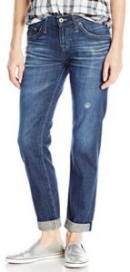 Big Star Women's Billie Boyfriend Skinny-slouchy Jean Lightly Faded Ocean Blue