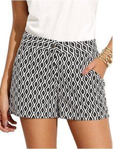 SheIn Women's Mid Waist Plaid Print Summer Shorts