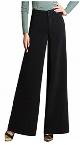 Lixmee Women's High Waist Solid Color Loose Wide Leg Pants