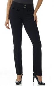 Rekucci Women's Secret Figure Pull-On Knit Straight Pant w/ Tummy Control