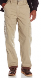 Wrangler Authentics Men's Fleece-Lined Cargo Pant