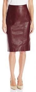 time! BCBGMAXAZRIA Women's Natilie FX Leather Skirt