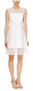 Calvin Klein Women's Crochet Sleeveless Fit & Flare Dress