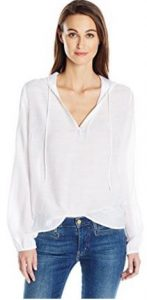 Guess Women's Three Quarter Sleeve Delta Hoodie