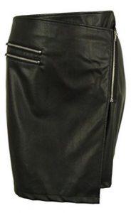 Junarose Women's Faux Leather Wrap Skirt
