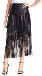 Kensie Women's Soft Fringe Skirt