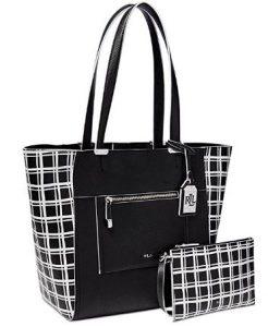 LAUREN Ralph Lauren Paley Lauryn Bag-in-Bag Tote - Black window