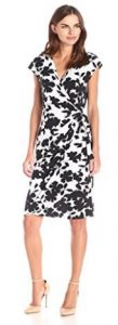 Lark & Ro Women's Classic Cap-Sleeve Wrap Dress