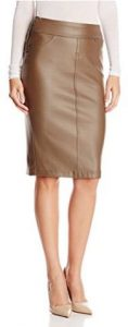 Liverpool Jeans Company Women's Cecil Coated Ponte Pull-On Pencil Skirt