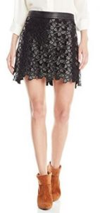 Sam Edelman Women's Emma Floral Faux-Leather Skirt