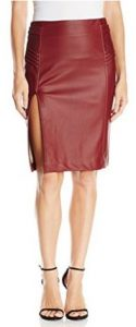 XOXO Women's Butter Pleather and Ponte Skirt