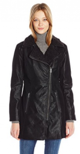 GUESS Women's Faux Suede Zip-up Jacket