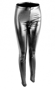 Diamondkit Women Faux Leather Leggings Wet Look Metallic Waist Legging Pants Trousers