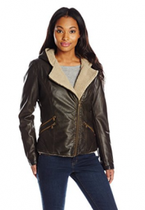 Levi's Women's Asymmetrical Sherpa-Lined Faux-Fur Jacket